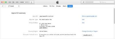 apple itunes account